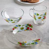 Набор посуды GiDGLASS 'Лесная поляна', 3 предмета тарелка d20 см, салатник d13 см, кружка 200 мл