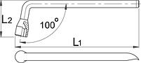 Ключ колёсный торцевой изогнутый - 210/2 UNIOR, фото 2