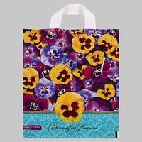 Пакет 'Красивые цветы', полиэтиленовый с петлевой ручкой, 28x34 см, 60 мкм (комплект из 25 шт.)
