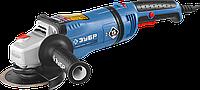 Машина углошлифовальная, ЗУБР, регулировка оборотов, УШМ-П125-1400 ЭПСТ серия «ПРОФЕССИОНАЛ»
