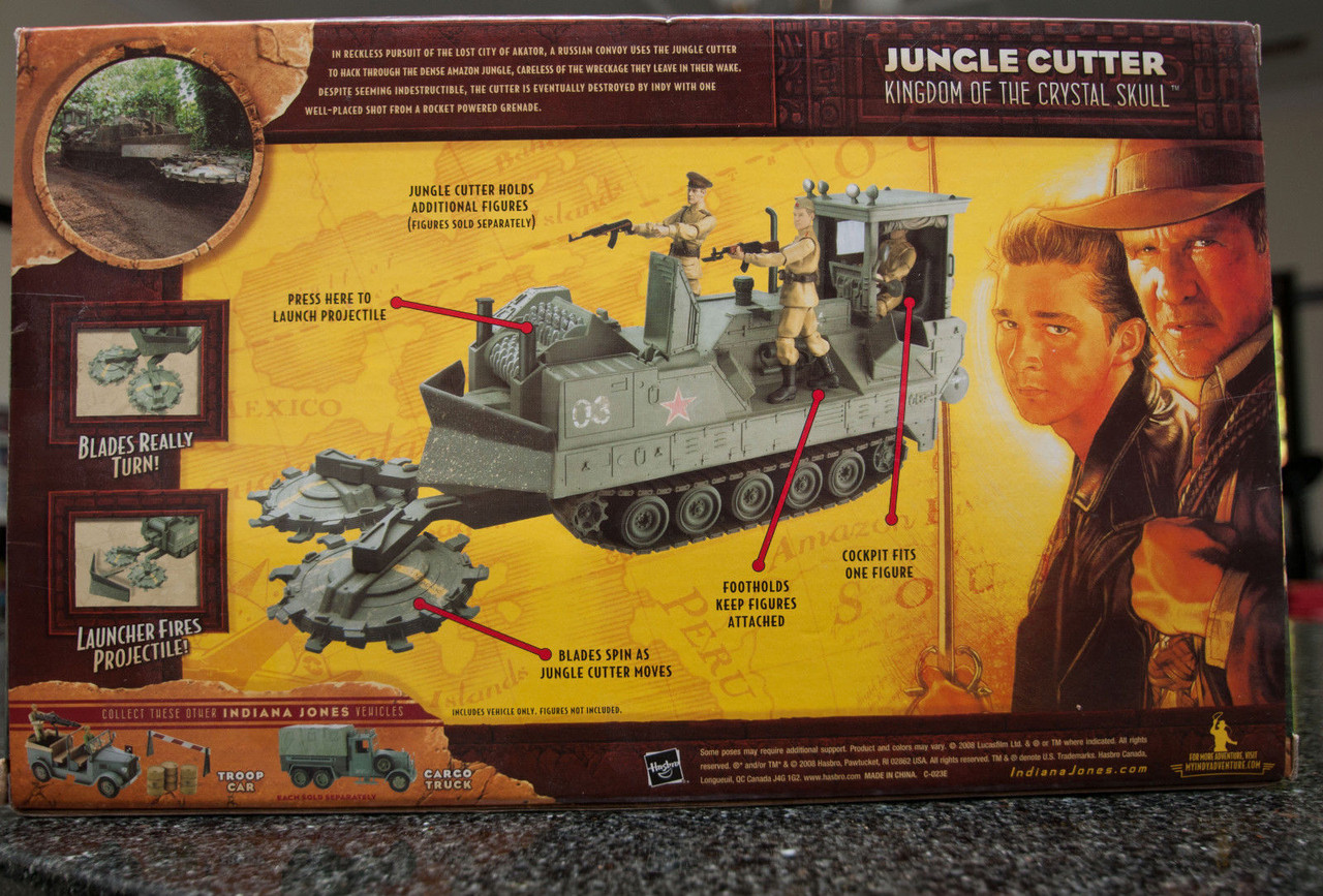 *Indiana Jones Movie Hasbro Basic Vehicle Jungle Cutter