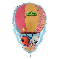 Шар фольгированный 28' 'Ми-ми-мишки на воздушном шаре', фигура