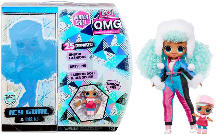 LOL OMG Зимний Мороз Набор из 2 кукол ЛОЛ Ледяная леди и Бррр Би Би, Icy Gurl и Brrr B.B. - фото 1