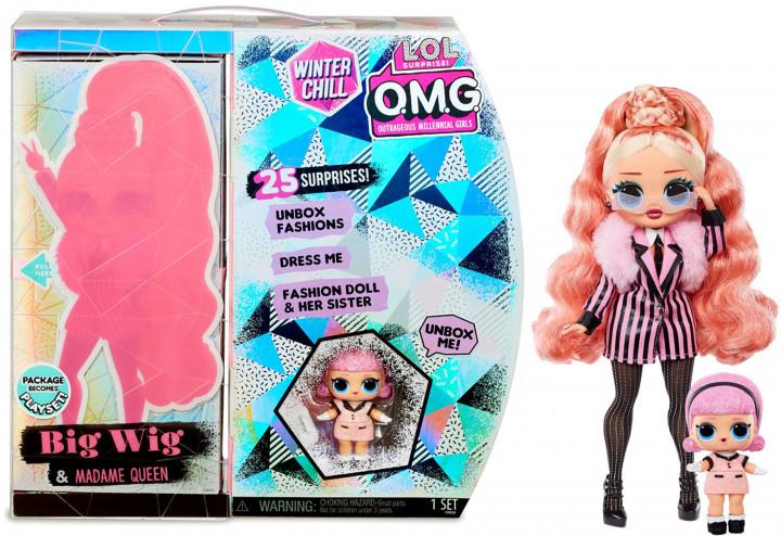 LOL OMG Зимний Мороз Набор из 2 кукол ЛОЛ Леди-стайл и Мадам Куин, Big Wig и Madame Queen