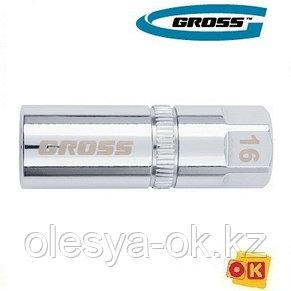 Головка свечная, магнитная, 16 мм, 1/2 GROSS, фото 2