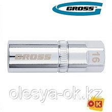 Головка свечная, магнитная, 16 мм, 1/2 GROSS