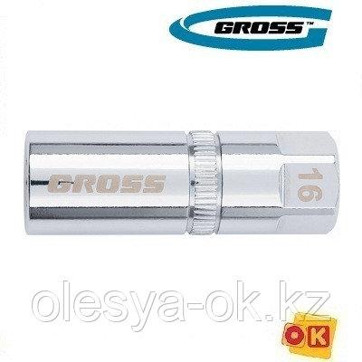 Головка свечная, магнитная, 21 мм, 1/2 GROSS