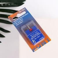 Игла для бытовых швейных машин, двойная, универсальная, 90, 3 мм