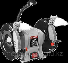 Станок точильный, ЗУБР, увеличенная мощность + лампа подсветки, ЗТШМ-200-450