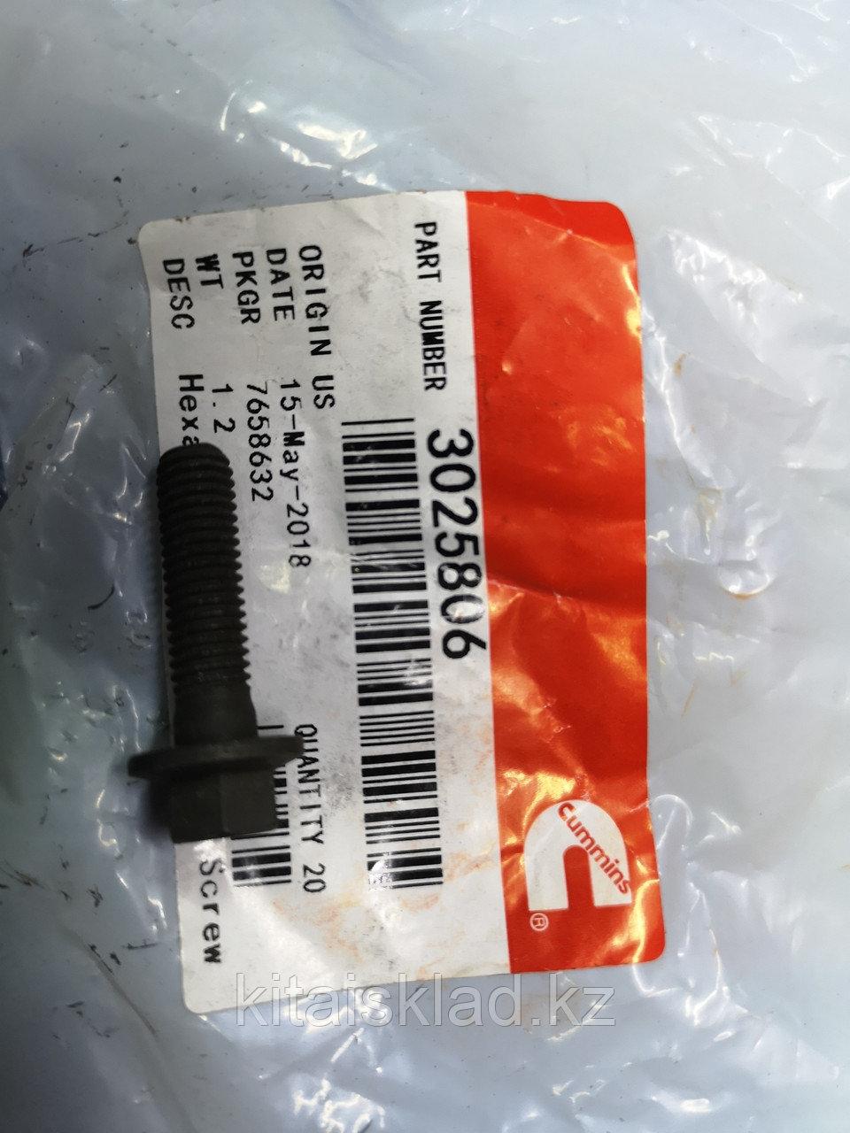Болт 3025806 крепления масляной трубки Cummins ISF, ISBe