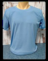 "Футболка для сублимации Прима Лето ""Unisex"" цвет: голубой филин, р-р: 42(2XS)"