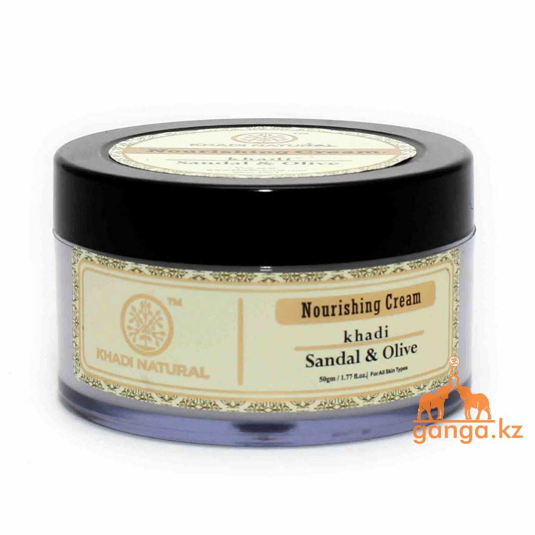 Крем для лица Питательный Сандал и Олива KHADI Herbal Nourishing Cream Sandal Olive, 50 г.