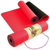 Коврик для йоги красный