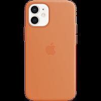 Силиконовый чехол MagSafe для IPhone 12 mini Silicone Case with MagSafe - Kumquat