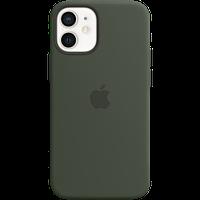 Силиконовый чехол MagSafe для IPhone 12 mini Silicone Case with MagSafe - Cypress Green «кипрский зелёный»