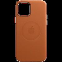 """Кожаный чехол с MagSafe IPhone 12 mini Leather Case with MagSafe - Saddle Brown """"Золотисто-коричневый"""""""