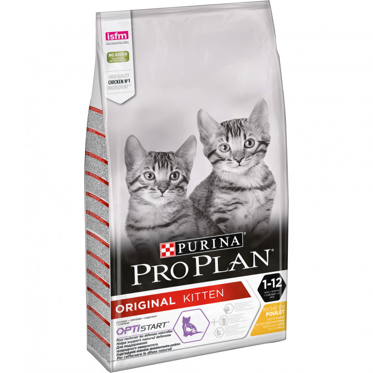 Purina Pro Plan Original Kitten с курицей, уп.1,5 кг
