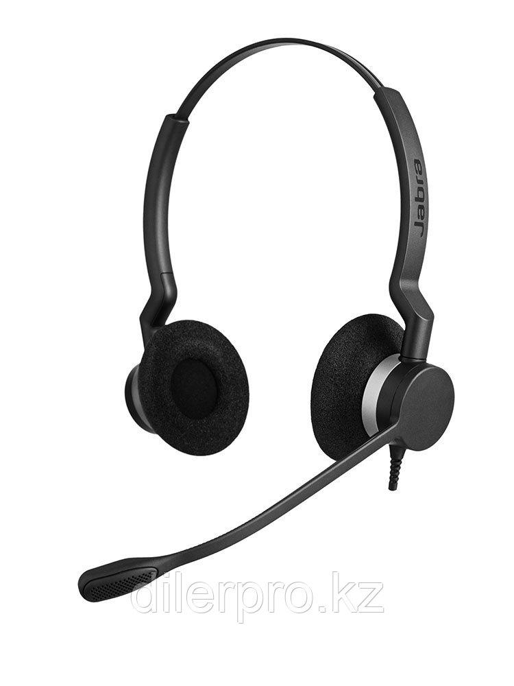 Jabra BIZ 2300 Duo - проводная гарнитура для стационарного телефона с шумоподавлением
