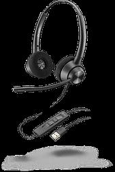 Plantronics Poly EncorePro EP320 USB-A — профессиональная телефонная гарнитура