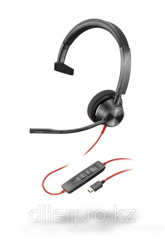 Plantronics BlackWire 3310 USB-C - проводная гарнитура для ПК с шумоподавлением (моно, USB-C)