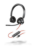 Plantronics BlackWire 3320 USB-A - проводная гарнитура для ПК с шумоподавлением (стерео, USB-A)