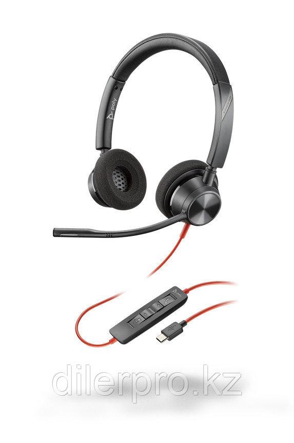 Plantronics BlackWire 3320 USB-C - проводная гарнитура для ПК с шумоподавлением (стерео, USB-C)