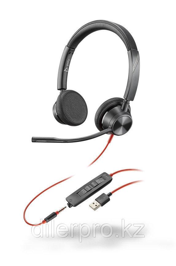 Plantronics BlackWire 3325 USB-A - проводная гарнитура для ПК и мобильных с шумоподавлением