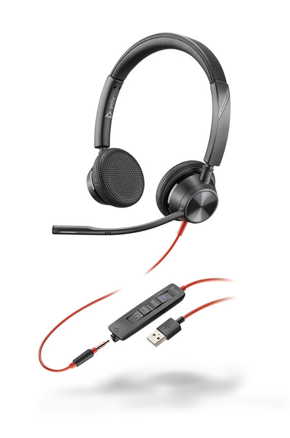 Plantronics BlackWire 3325-M USB-A - проводная гарнитура для ПК и мобильных с шумоподавлением