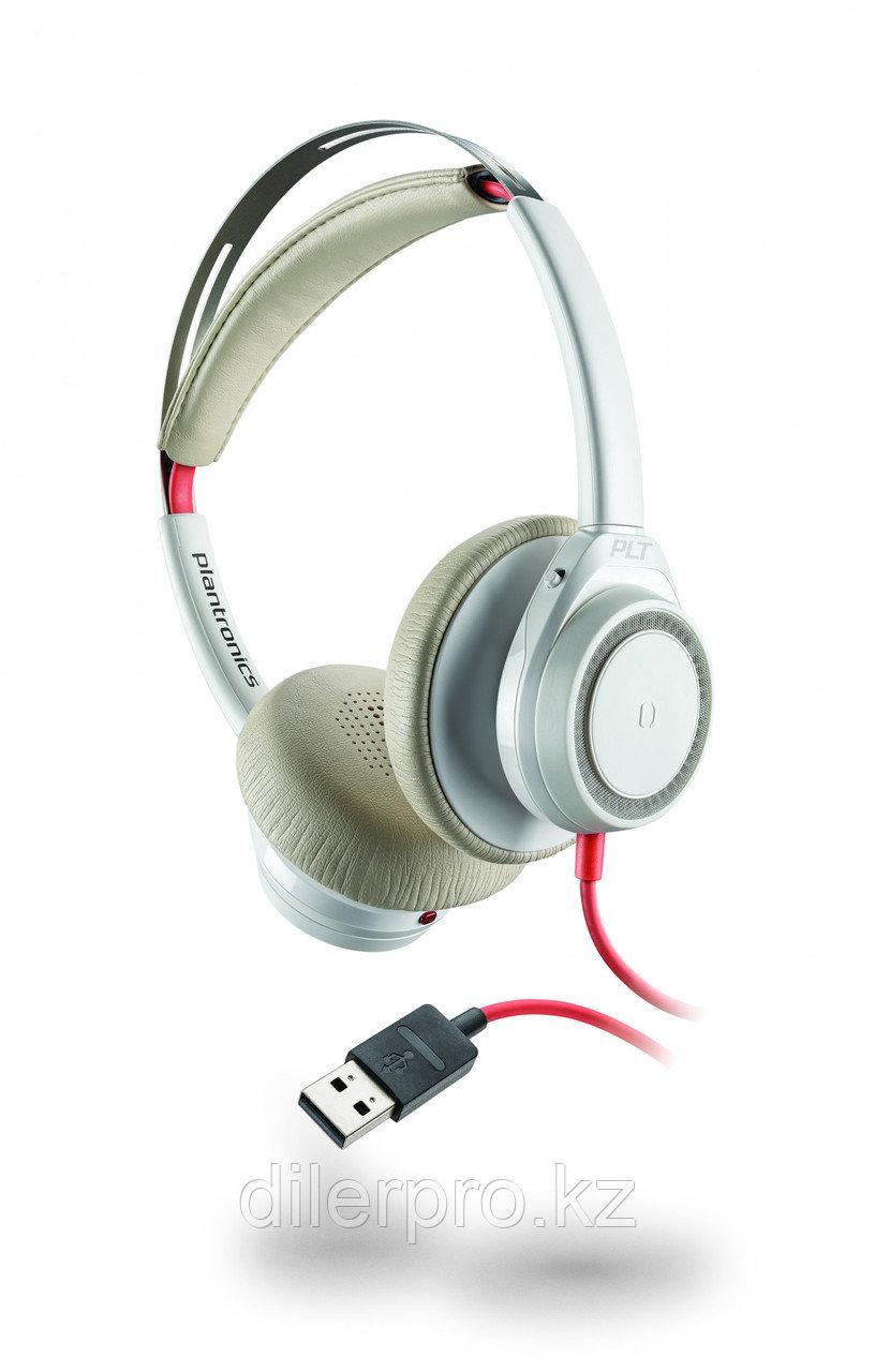 Plantronics BlackWire 7225 — проводная гарнитура без штанги микрофона (USB A), белая