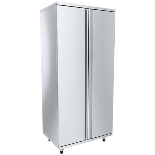 Шкаф для хлеба двери распашные нерж (7 направл для лотков), разборной ШКХ-Р-Н (820х560х1800(1820) мм