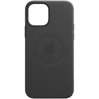 Кожаный чехол с MagSafe IPhone 12 mini Leather Case with MagSafe - Black