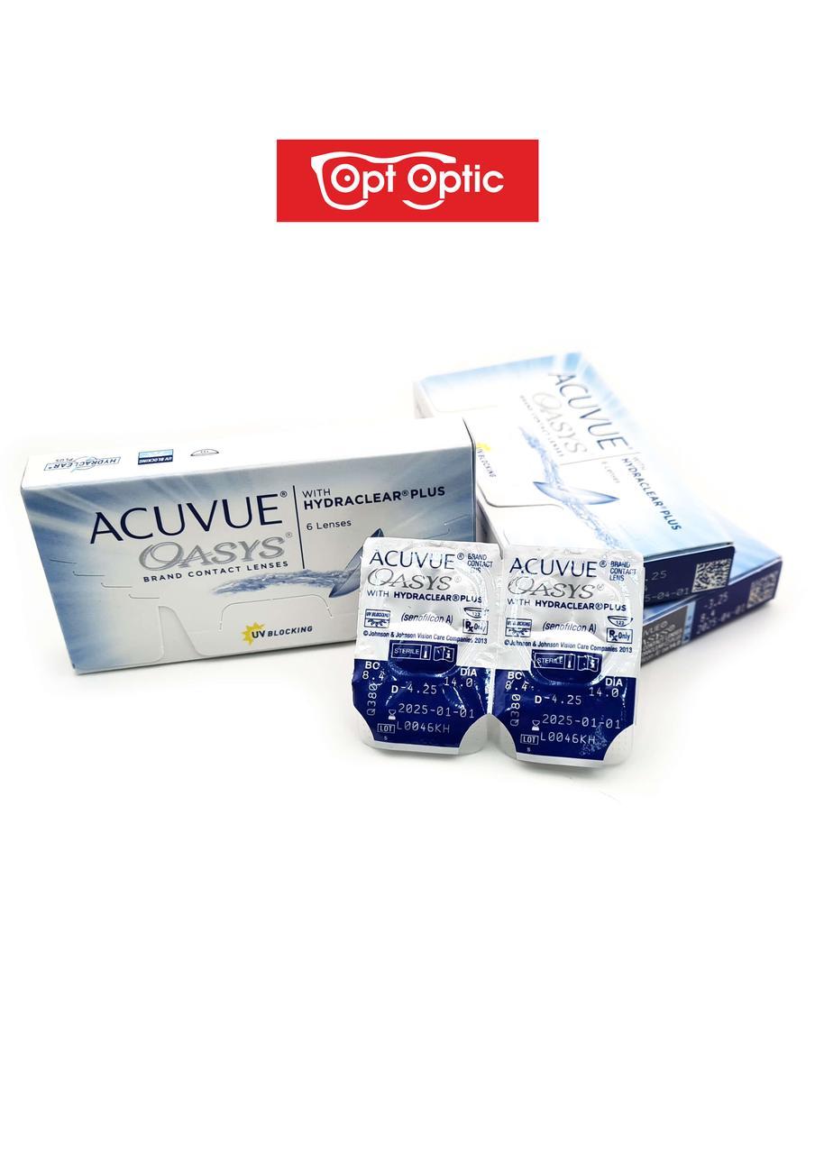 Контактные линзы ACUVUE Acuvue Oasys Двухнедельные / 14 / 8.4, 6 шт. -5.00 - фото 2