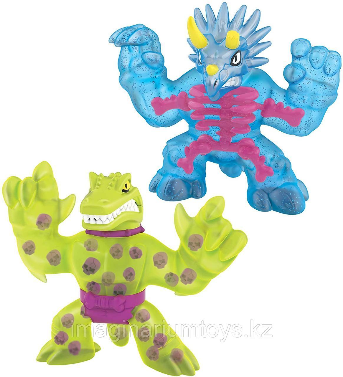 Гуджитсу набор динозавры Трицератопс и Шредз игрушка Goo Jit Zu серия X-Ray