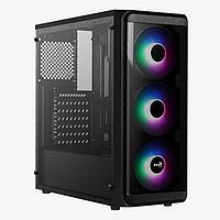 Компьютерный корпус, Aerocool, SI-5200 Frost, ATX-Micro ATX, USB 1*3.0-2*2.0, HD-Audio Mic, Кулер 3*12см FRGB,