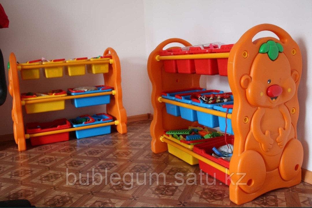 Детская пластиковая этажерка для игрушек