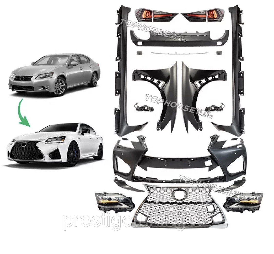 Комплект рестайлинга для Lexus GS (L10) 2012-15 в 2016 год F-sport