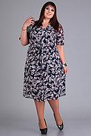 Женское осеннее синее большого размера платье Algranda by Новелла Шарм А3666 62р.