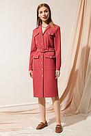Женское осеннее красное платье Nova Line 50041 коралл 42р.