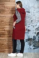 Женский осенний трикотажный спортивный большого размера спортивный костюм Белтрикотаж 4210 бордо 46р.