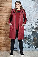 Женский осенний трикотажный спортивный большого размера спортивный костюм Белтрикотаж 4245 бордо 50р.