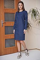 Женское осеннее джинсовое синее платье Fantazia Mod 3803 46р.