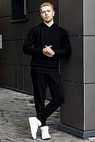 Мужской осенний трикотажный черный спортивный большого размера спортивный костюм GO M3000/40-02.170-176 44р.