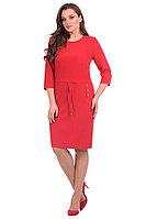 Женское осеннее красное платье Линия Л Б-1599 48р.