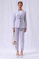 Женские осенние белые деловые брюки LARICI 5052 42р.