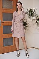 Женское осеннее розовое платье Fantazia Mod 3754/1 46р.