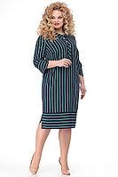 Женское осеннее синее большого размера платье Algranda by Новелла Шарм А3662 58р.