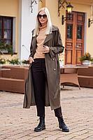 Женские осенние из вискозы коричневые деловые брюки Achosa 740 кофейный 42р.