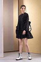 Женское осеннее черное платье Deesses 1073 44р.