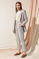 Женские осенние серые деловые брюки Nova Line 4811 42р.