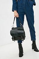 Женская осенняя кожаная черная сумка Igermann 16С744 КЧ6 без размерар.